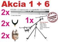 Kaprové prúty+tripod+2x signalizátor+2x roohatinka