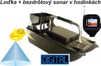 Zavážacia loďka + sonar v hodinkách