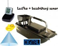 zavážacia loďka BL + nahadzovacií sonar