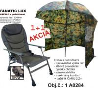 SPORTS kreslo LUX s podrúčkami + dáždnik CAMU