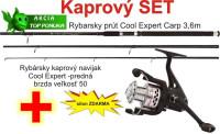 AKCIE prút Expert Carp 3,60m ,3lb, 3 diel + navijak