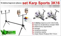 AKCIE 3K16 set, 3,60m / 3,00lb / 3 dielny - 16dielov