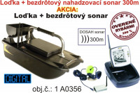 Vyvážacia loďka BL do 500m + bezdrôtový sonar do 300m