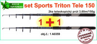 SPORTS Akciový TELE CARP set TRITON 2ks 3,6m/150g