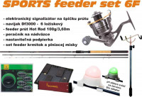 Feeder set: SPORTS 6F - šesť kusý fídrový set 3,6/100g