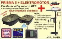 PRISMA 5 zavážacia loďka so sonarom a GPS+elektromotor