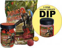 SET - Boilies Punky Monkey + Pop Up 75g + Dip 150ml