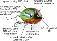 Salmo vobler Lil´Bug BG2, plávajúci, 2cm