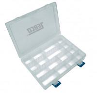 Plastový box priehľadný s priehradkami - 25x17,5x4cm