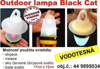 Black Cat Outdoor lampa so 4 funkciami.