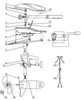Náhradná súčiastka k lodnému elektromotoru