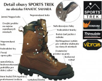 Sportstrek obuv FANATIC - podrážka vibram