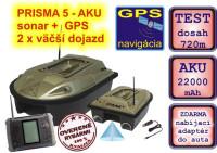PRISMA 5 - zavážacia loďka so sonarom+GPS+nabíjačka