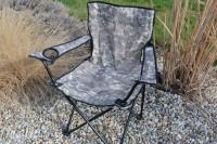 Prenosná skladacia rybárska stolička - Kamuflážna farba