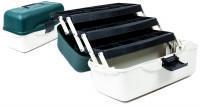 Plastový rybársky kufrík s troma zásobníkmi