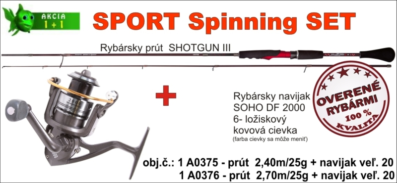 Spinning set SPORTS - 2,7m/25gr + SOHO navijak 2000