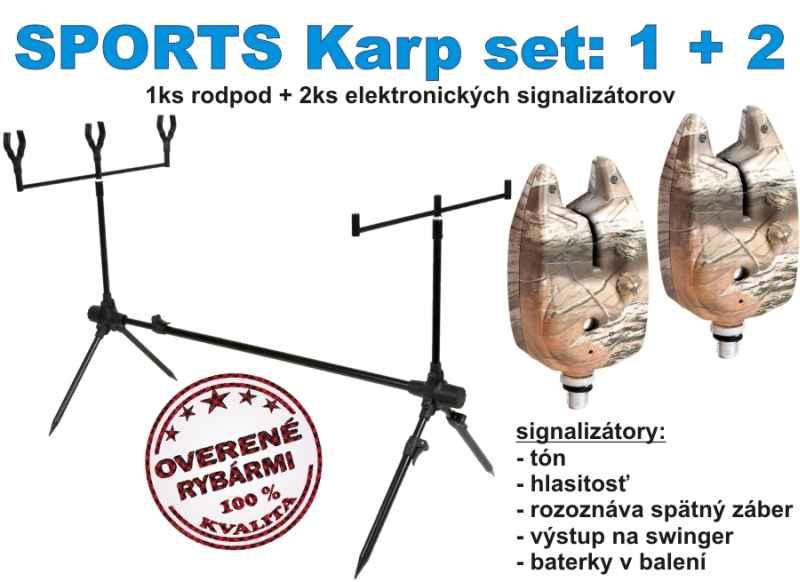 Kaprársky set stojan a signalizátory  SPORTS karp set 3 3815b4c3cfd