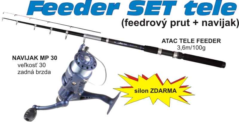 Set Method Feeder - rybársky prút s navijakom