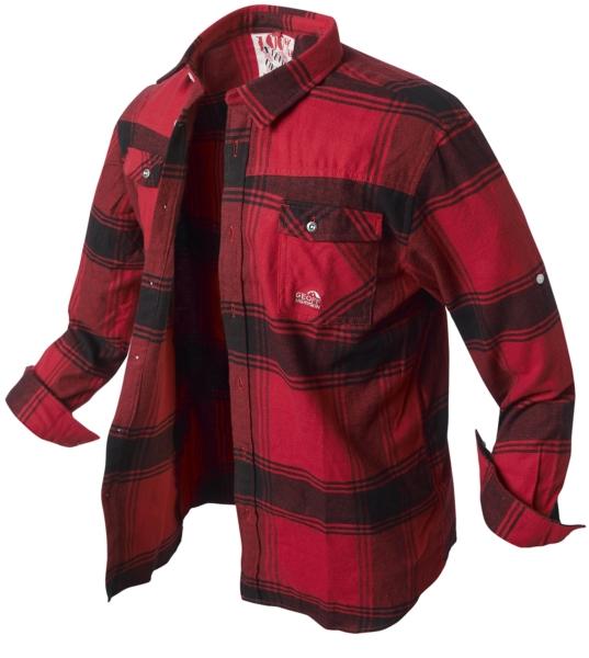 7f8b22ede20f Geoff Anderson flanelová košeľa Banga - červeno-čierna - A-Z Rybár ...