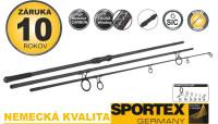 Kaprové udice SPORTEX Competition Carp CS-4  - 3diel