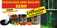 SupFeed Diffusion Mini Boilies 12mm/35g - fluo efekt