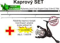 SPORTS kaprársky set: Prút + navijak + silon