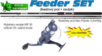 SPORTS, Atac Feeder 3,30m, 80g, 3diel + navijak a silon