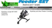 SPORTS Feeder prút, 3,3m/80g + navijak