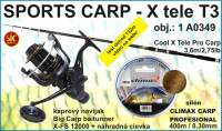 SPORTS CARP SET – teleskop 3,6m/2,75 + navijak a silon