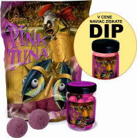 SET Boilies Pink Tuna + Pop Up 75g + Dip 150ml