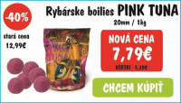 AKCIA -40% - Radical Boilies Pink Tuna 20mm / 1kg