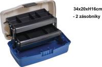 Rybársky kufrík - dve poschodie - 34x20x16cm