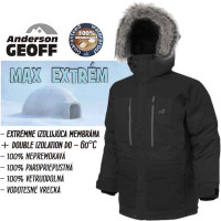 Geoff Anderson bunda Usque Down Parka, f. pirate black