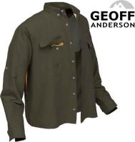 Rybárske košele Geoff Anderson Polybrush 2 - zelená