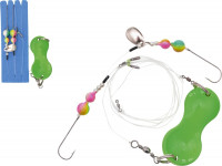 Zebco systém Flatty Teaser Rig Leadfree, green