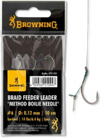 Nadväzce Method Feeder Leader Browning s tŕňom 10cm/3ks