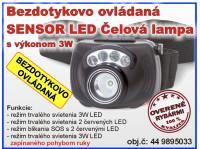 Zebco - čelová lampa bezdotykovo ovládaná 3W