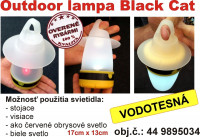 Black Cat Outdoor lampa so 4 funkciami.