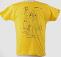 Detské tričko, rybár s voblerom, f.žltá